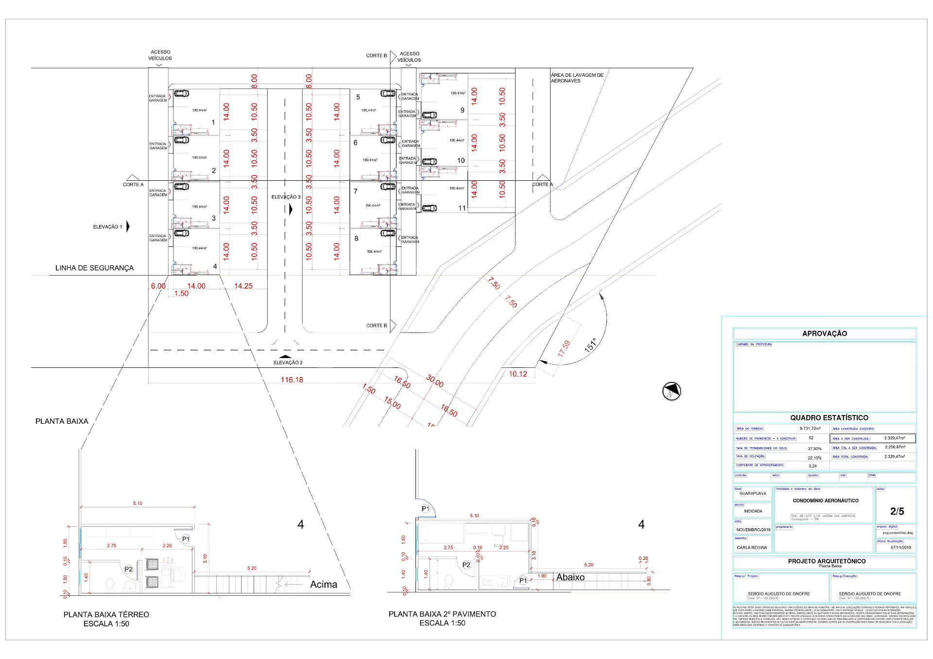 Implantação terrenos para Hangar