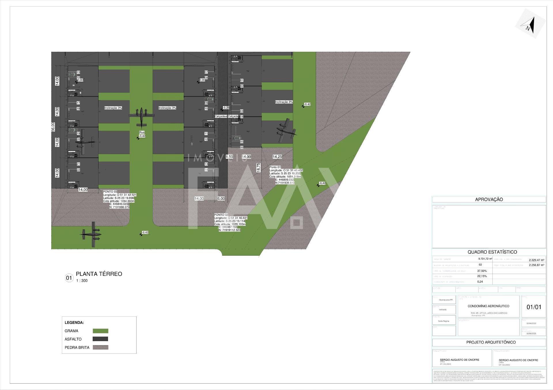 Terreno para Hangar condomínio Aeronáutico