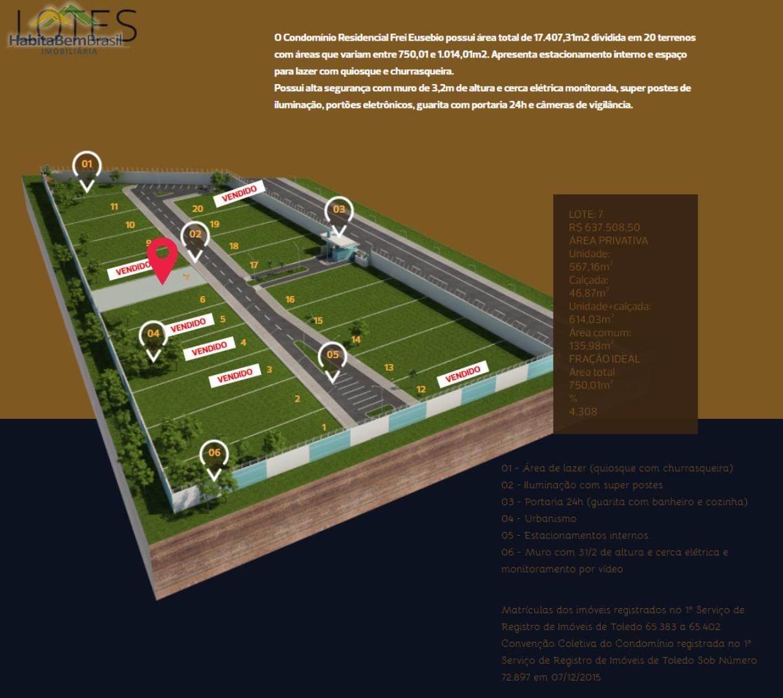 Terreno à venda, VILA INDUSTRIAL, TOLEDO - PR