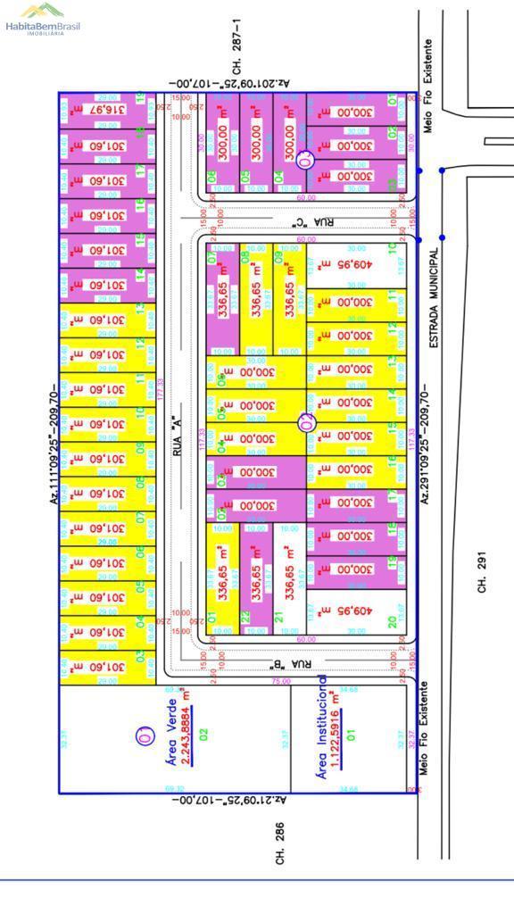 Terreno à venda,336.65m², CENTRO, SANTA HELENA - PR