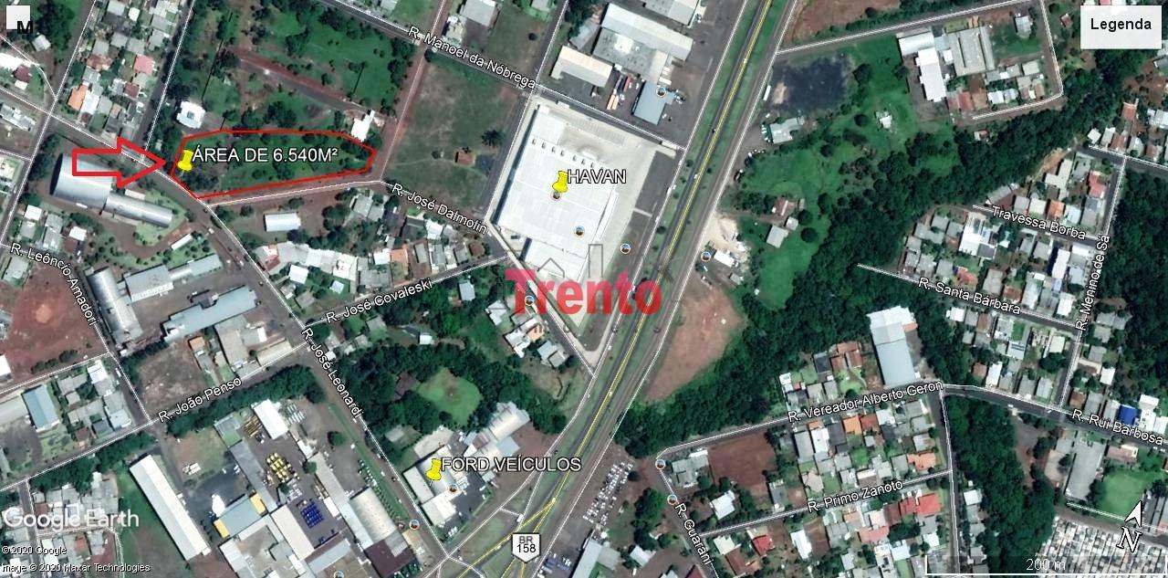 TERRENO DE 6.540M² PRÓXIMO DA HAVAN - PATO BRANCO - PR. - PATO BRANCO/PR