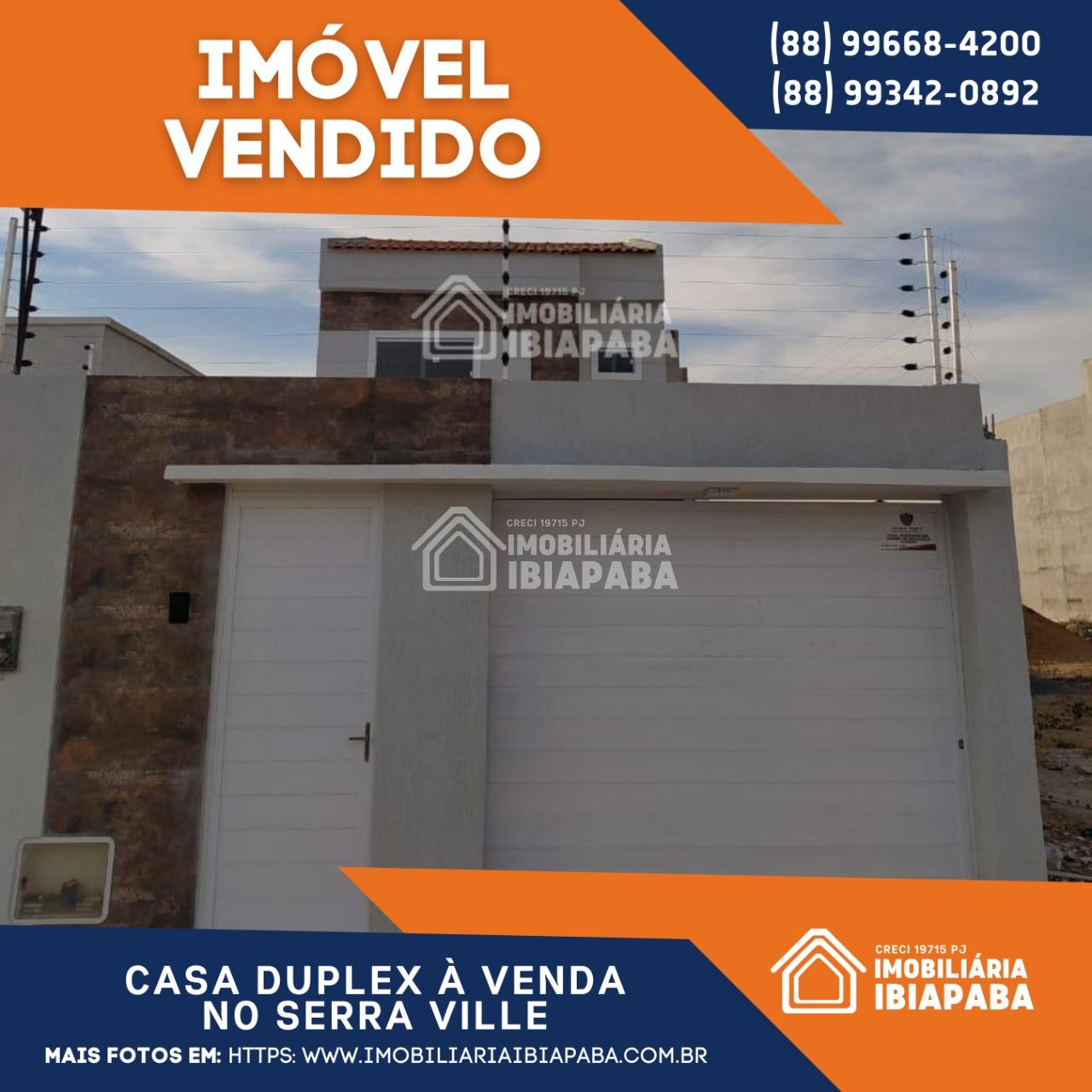 VENDIDO!! CASA DUPLEX NO SERRAVILLE